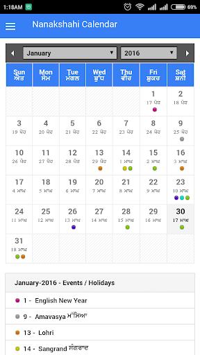 Nanakshahi Calendar 2016