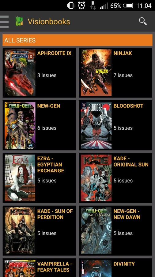 Visionbooks Comics- screenshot