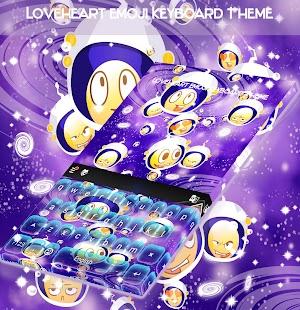 Loveheart Emoji Keyboard Theme - náhled