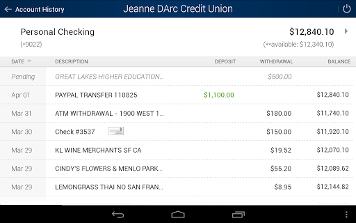Jeanne D'Arc Mobile Banking screenshot 6