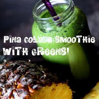 Green Piña Colada Pineapple Smoothie