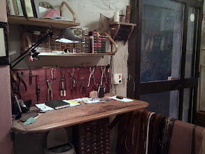 Photo: in leather artisan's workshop