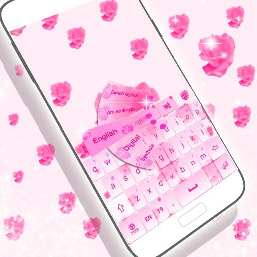 粉紅玫瑰鍵盤 個人化 App LOGO-APP開箱王