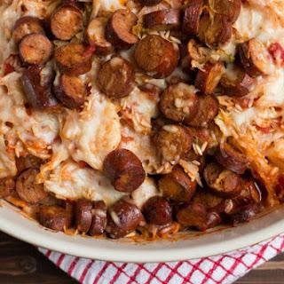 Layered Smoked Sausage and Rice Casserole Recipe