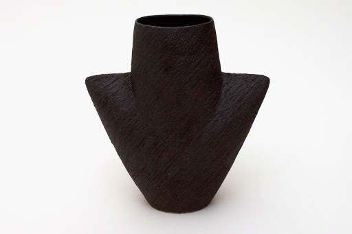 Chris Carter Ceramic Mask Pot Black 10
