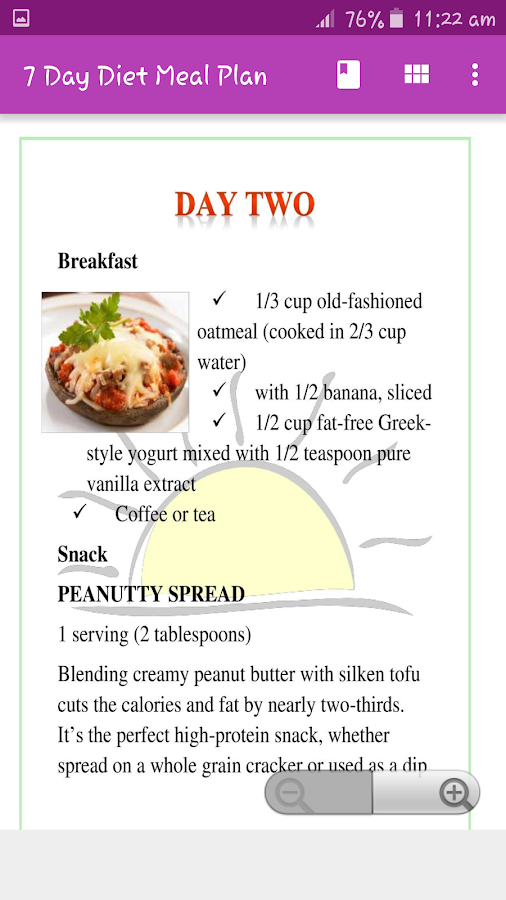 Easy 7 day diet recipes