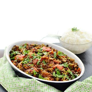 Lightly Curried Vegan Beluga Lentils With Vegetables