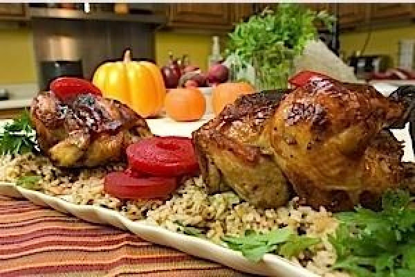 Cranberry Glazed Cornish Hens With Wild Rice Recipe