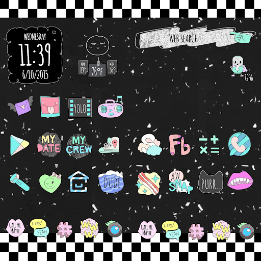 Cute home ♡ CocoPPa Launcher screenshot 2