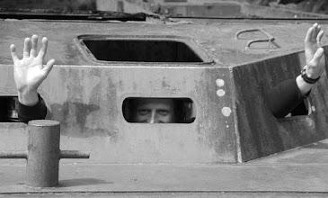 Photo: Tomek in the tank