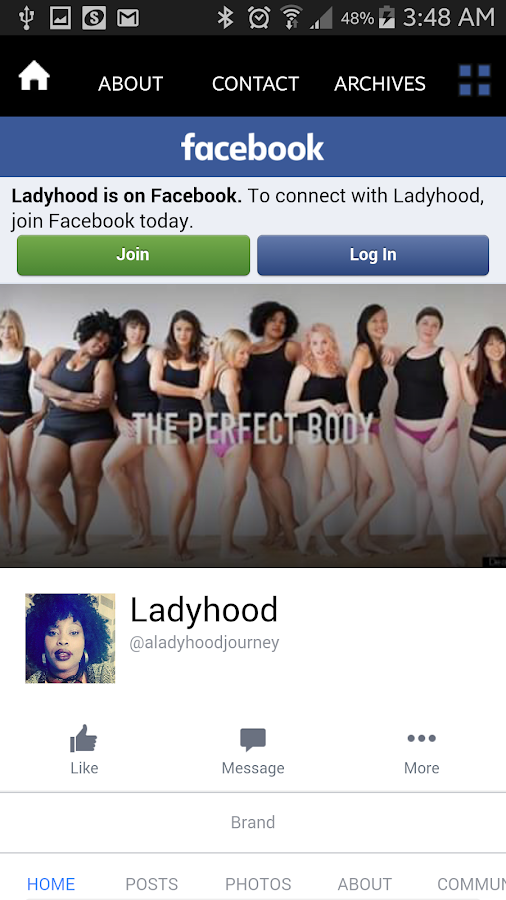 LADYHOOD Blog- screenshot