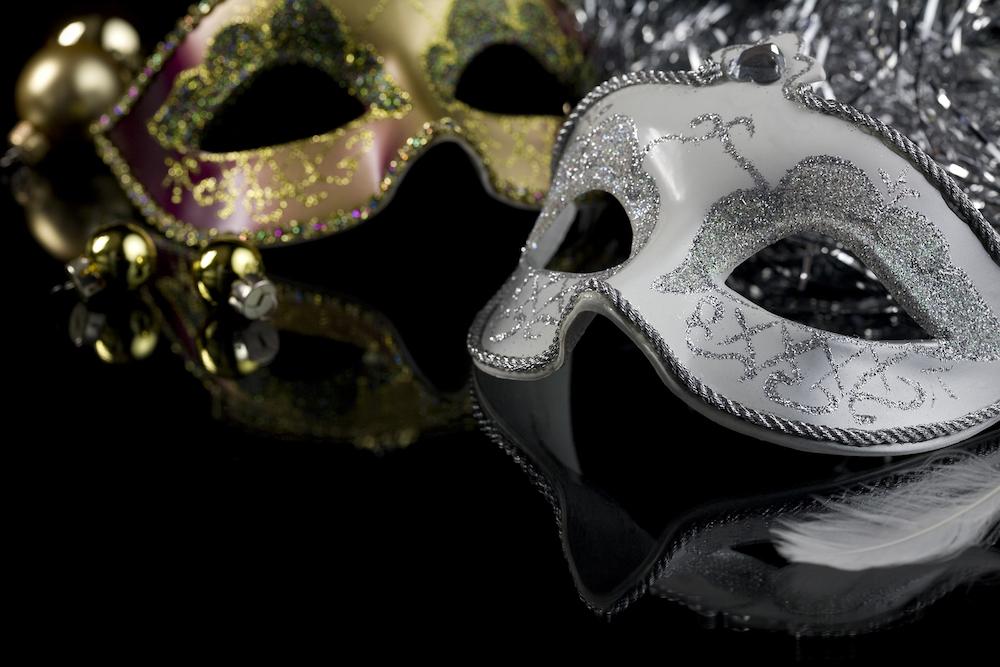 Masquerade Ball masks silver and gold.