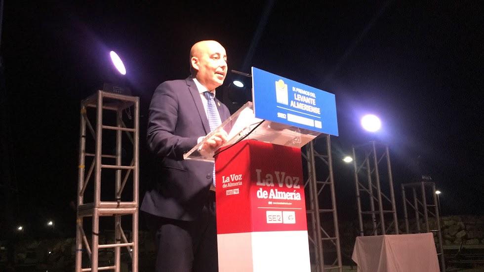 Intervención del presidente de la Mancomunidad del Levante y alcalde de Huércal-Overa, Domingo Fernández, en los Premios Levante.