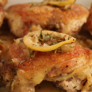 Roasted Chicken Thighs with Rosemary and Lemon.