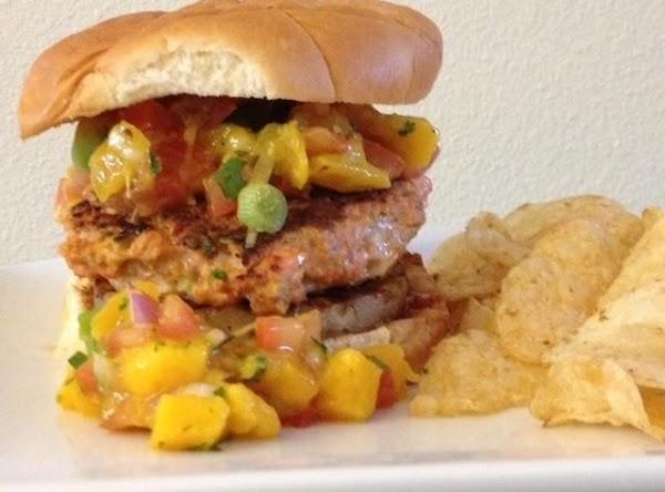Big Kahuna Salmon Burger With Mango Avocado Salsa Recipe