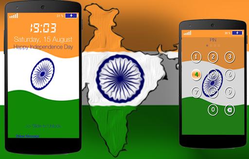 India Flag Pin Locker
