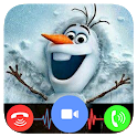 Snowman Chat : Fake Video Call icon
