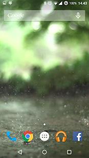 Real Rain Live Wallpaper - náhled