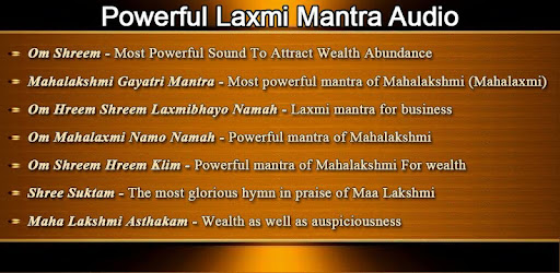 Powerful Mahalakshmi Mantra for Wealth - Apps on Google Play