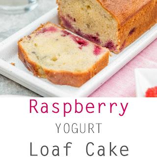 Raspberry Yogurt Loaf Cake.
