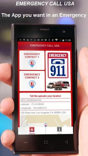 EMERGENCY CALL USA 9-1-1 911