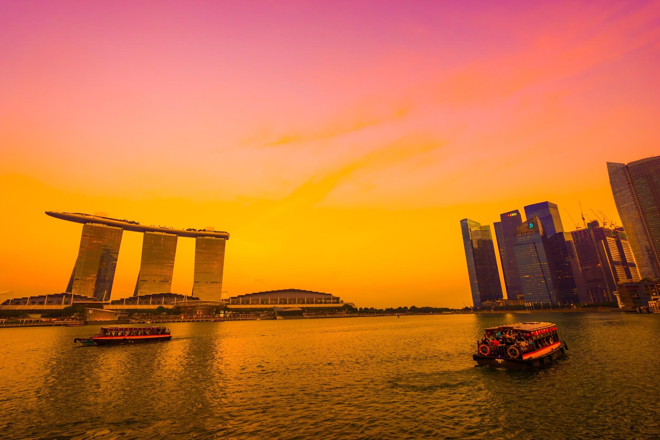 Singapore Marina Bay Sands sunset2