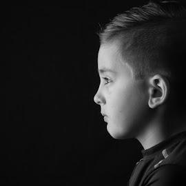 Laser by Cameron  Cleland - Babies & Children Child Portraits ( canon, white, boy, black, portrait )