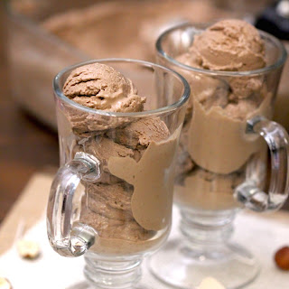 Healthy Hazelnut Mocha Ice Cream (high protein, sugar free & low carb)
