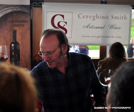 Photo: Fred Smith, bassist for Television, sharing his family's heritage at the Bethel Woods WIne & Cheese Festval 2011. Try his Rock and Roll Red.