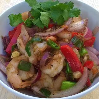 Jamaican Style Pepper Shrimp.