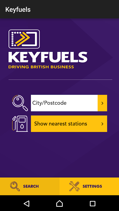 Keyfuels- screenshot