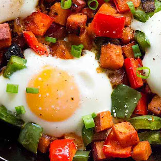 Sweet Potato Hash with Eggs.
