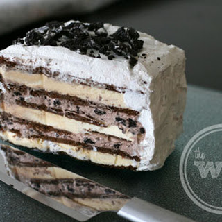 OREO Ice Cream Cake with Cool Whip Frosting.