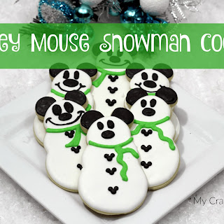 Mickey Mouse Snowman Cookie