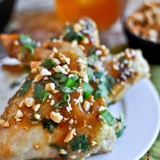 Sticky Thai Chicken Wings.