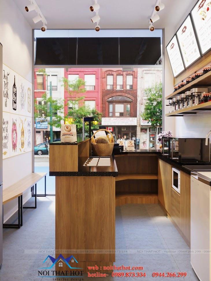 thiết kế quán bánh mì đơn giản