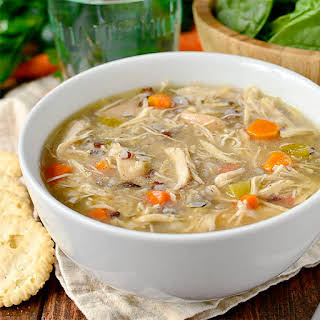 Crock Pot Chicken and Wild Rice Soup.