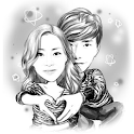 Moments Cartoon Caricature - selfie network cam icon