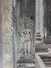 Photo: Exquisite carvings at Angkor Wat