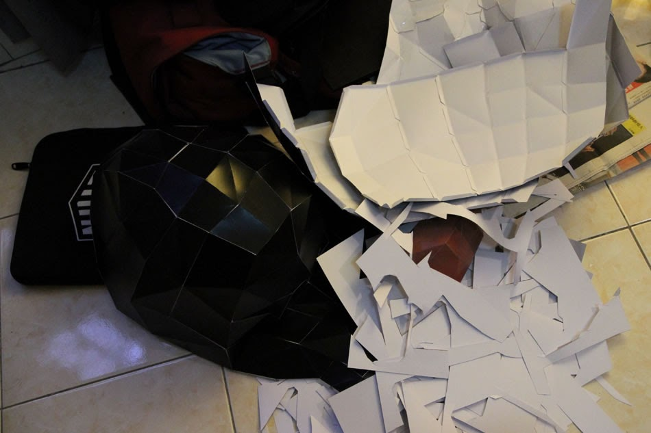 DIY papercraft big head