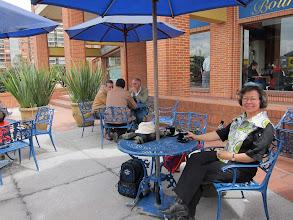 Photo: venter på kaffen