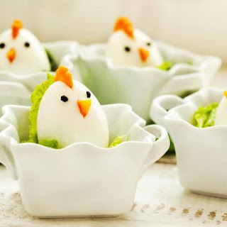 Easter Chicks Of Boiled Eggs
