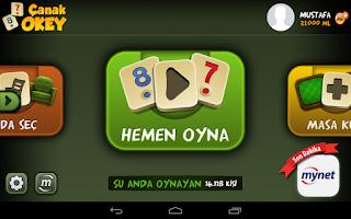 Screenshot of Çanak Okey