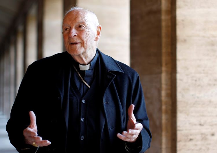 Cardinal Theodore McCarrick, whose resignation has been accepted by Pope Francis following allegations of sexual abuse, including one involving an 11-year-old boy.