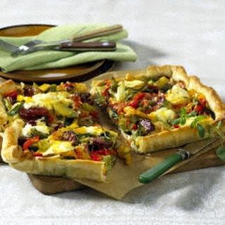 Paprika-Quiche mit Cabanossi