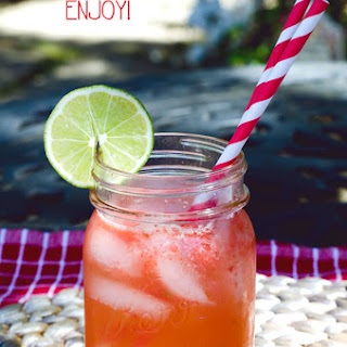 Strawberry, Honey & Lime Spritzer