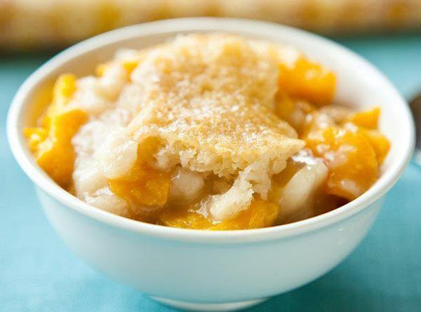 Slow Cooker Peach Cobbler Recipe