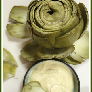 Artichokes Simply Steamed with Yogurt, Paprika, Dijon dipping Sauce
