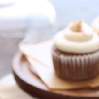 Carrot Cake Cupcakes, with Maple Cream Cheese Frosting