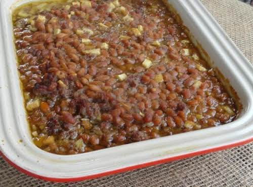"Spicy Apple Baked Beans ""These beans were a big hit when I..."